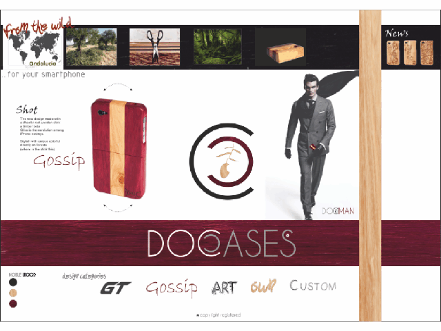 Marca y Diseño Corporativo, web y packaging Doccases